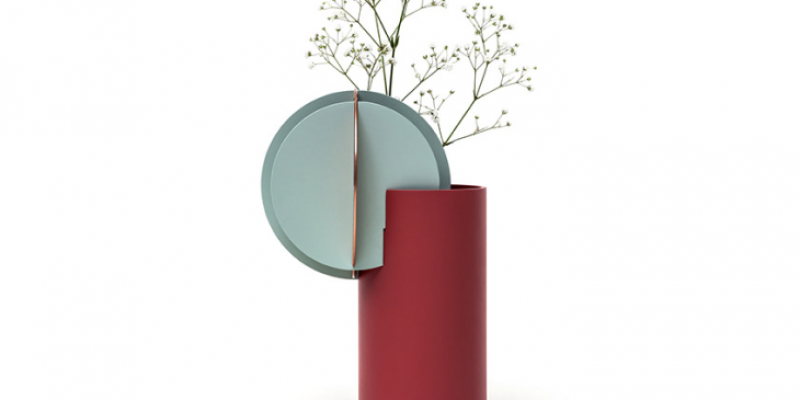 Red Vase with Green Sun