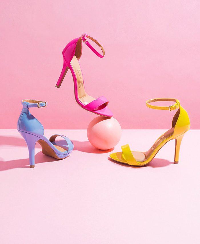 Multicolor Neon Heels