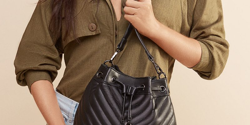 Black Lined Bag